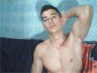 Picture of the sexy profile of Khristian, for a very hot webcam live show !