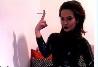 Sexy profilbilde av modellen  SpoiledV, for et veldig hett live webcam-show!