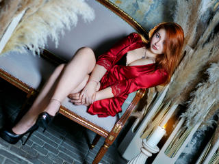 Picture of the sexy profile of GingerLass, for a very hot webcam live show !